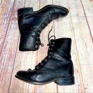 Laredo lace up western boots women's 8M